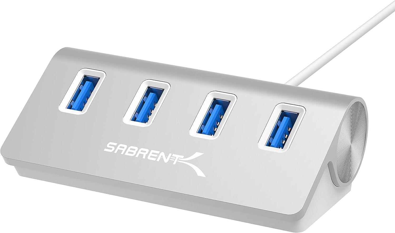 Sabrent Hub USB 3.0 Aluminio de 4 Puertos Premium (Cable de 30
