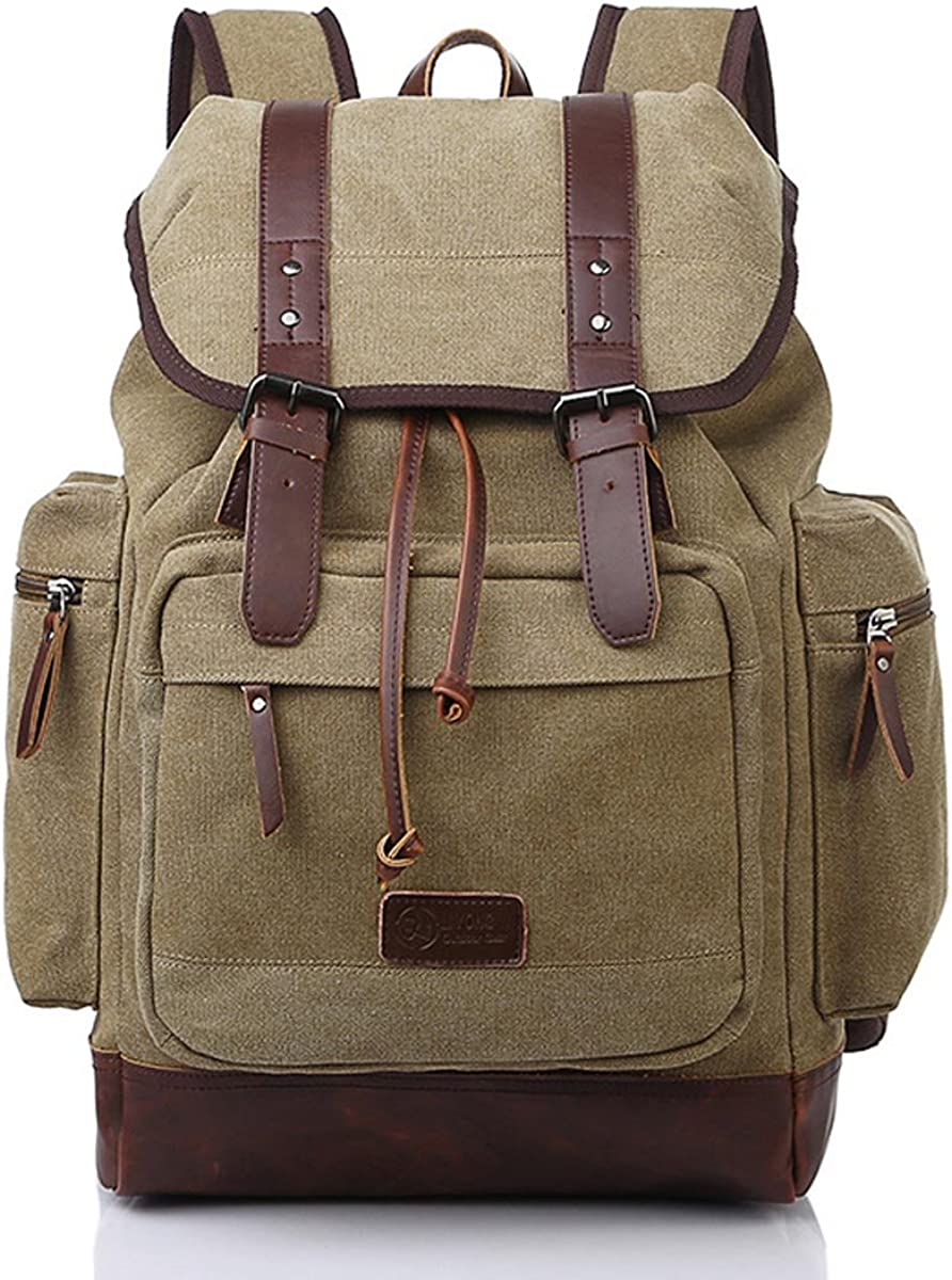 Kaxidy Canvas Casual Backpacks School Bags Rucksack Daypack
