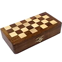 APS Craft Sheesham Wooden Magnetic Folding Chess Board (3.5 x 7)