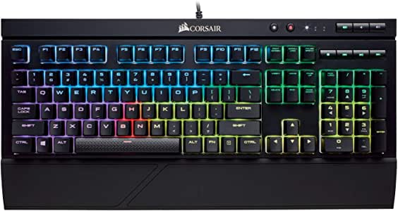 Corsair K68 RGB Mechanical Gaming Keyboard, Backlit RGB LED, Dust and Spill Resistant - Linear & Quiet - Cherry MX Red