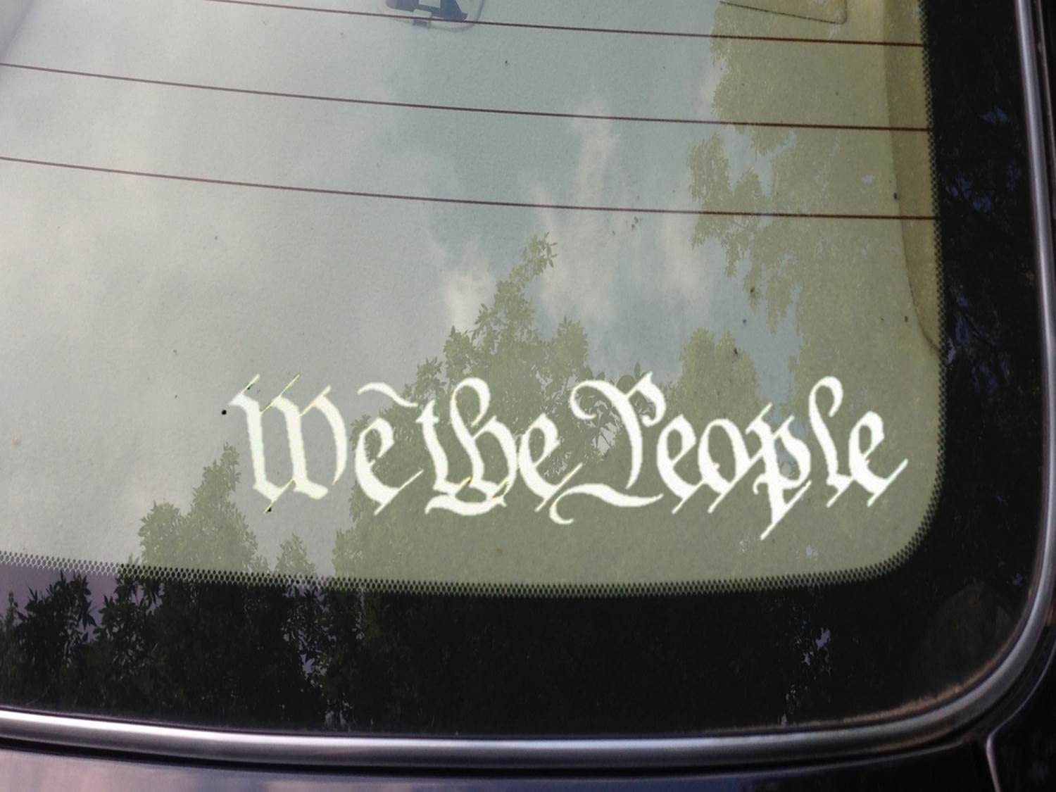 "We the People Decal Vinyl Sticker Second Amendment Car Window Laptop (White 6"")"