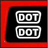 """Sticker Connection   2 DOT Helmet Decals Sticker Pack   Die Cut Sticker Decal   1.5""""x0.75"""" (White)"""