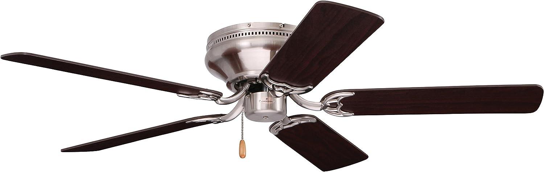 Emerson Ceiling Fans CF804SBS Snugger Low Profile Hugger Ceiling Fan, 42-Inch Blades, Light Kit Adaptable, Brushed Steel Finish