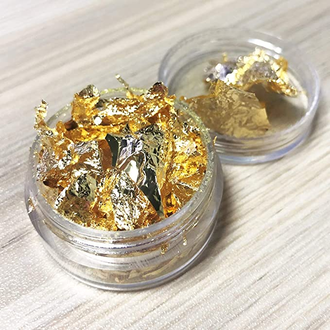100 GRAMS GOLD LEAF FLAKES 100/% SATISFACTION OR MONEY BACK FREE SHIPPING