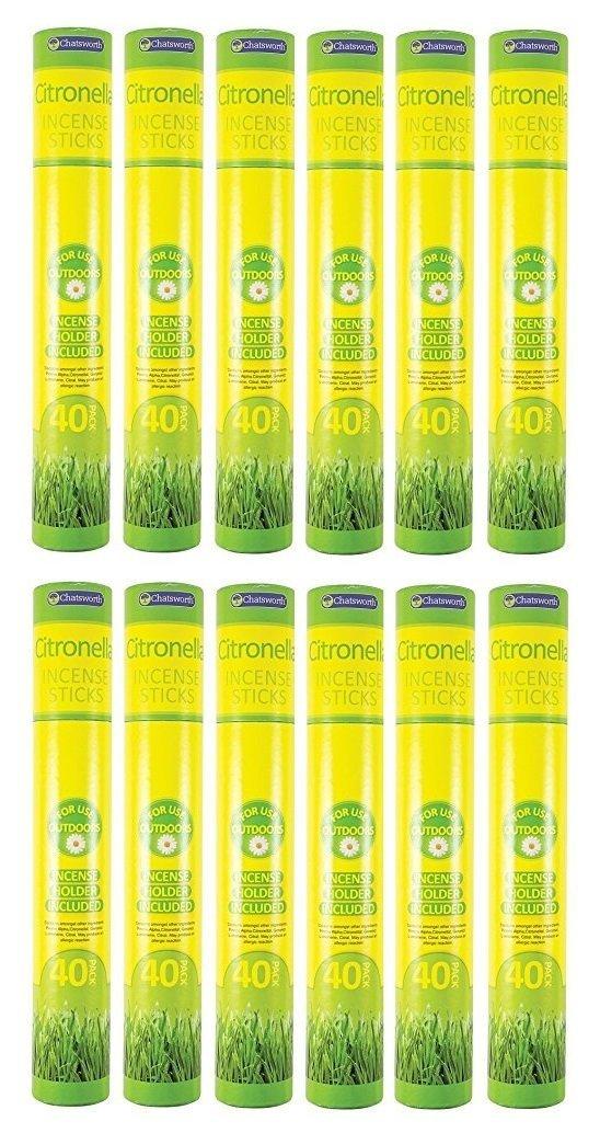 Chatsworth Outdoor Garden Citronella Incense Sticks With Holder - 40 Sticks 151 B00M95EKW8