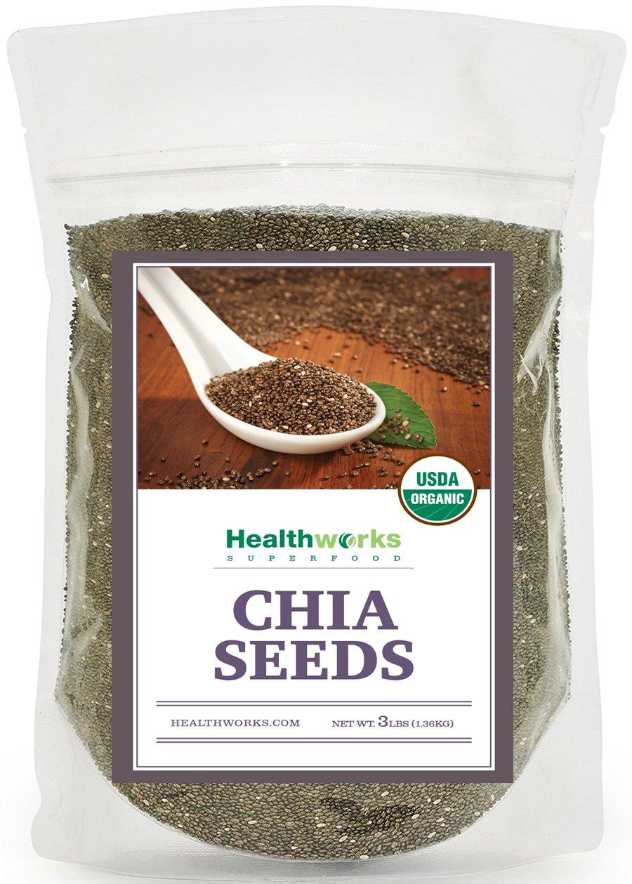 Healthworks Organic Chia Seeds Raw, 3lb by Healthworks
