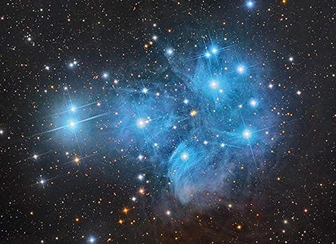 Pleiades Star Cluster Print Metallic Astronomy Art