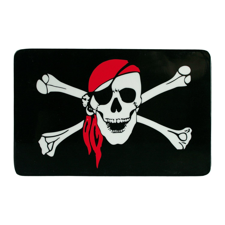 1 x Fr/ühst/ücksbrettchen Skull /& Bone Preis am Stiel/® Brettchen Geschenk f/ür Kinder schwarz Schneidebrett Pirat   Lebensmittelecht  Sp/ülmaschinenfest Brotbrett Essbrett