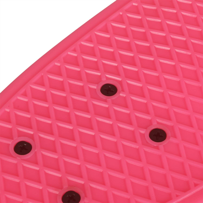WeSkate Mini Cruiser Skateboard Retro Komplettboard 22 55cm Vintage Skate Board mit Kunstsoff Deck und blinkenden LED-Rollen Cruiser-Board mit LED Leuchtrollen f/ür Erwachsene Kinder Jungen M/ädchen