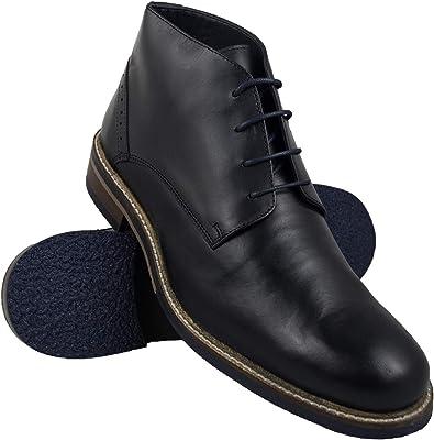 Zerimar Botas Hombre | Botines Hombre| Botas Hombre Altas Cuero ...
