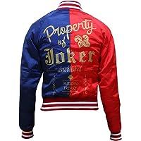 Aus Eshop Womens Suicide Squad Harley Quinn Margot Robbie Costume Red & Blue Bomber Jacket