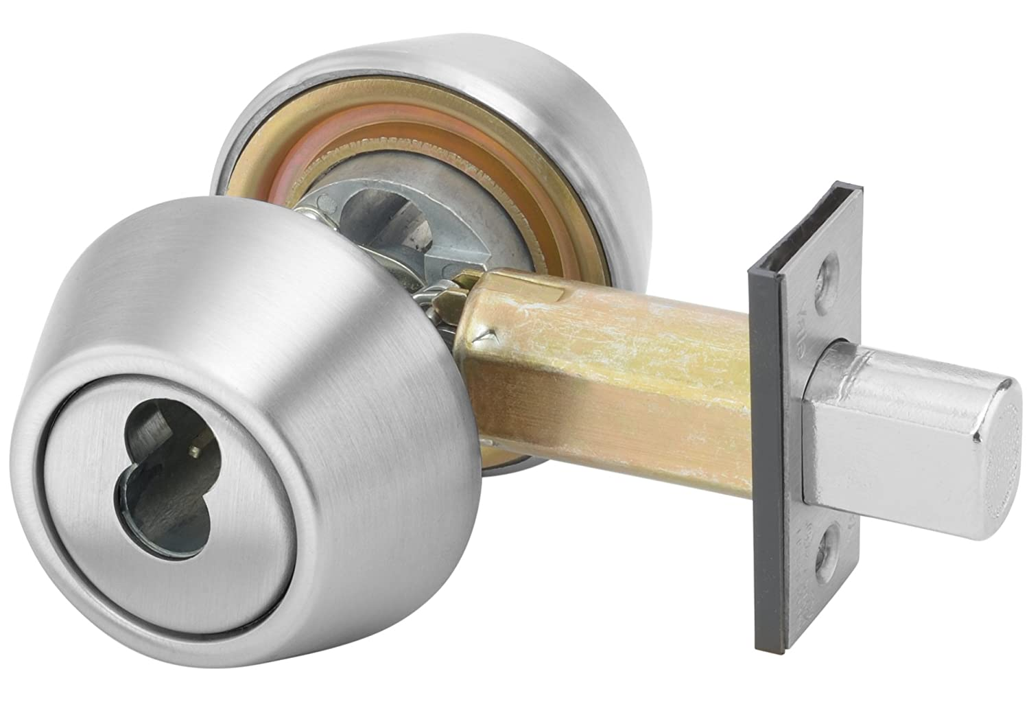 Classroom Function 626 Satin Chrome Finish 2 3//4 Backset ASSA ABLOY 086069 2 3//4 Backset Yale B-D262 626 D243 SFICLC 200 Series Deadbolt SFIC Cylinder Prep Less Cylinder Cylinder by Cylinder