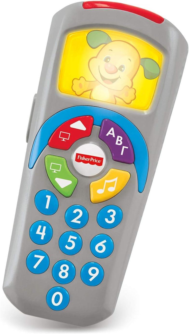 Fisher-Price - Mando a Distancia Perrito, Juguete Electrónico Bebé +6 Meses (Mattel DLD35)