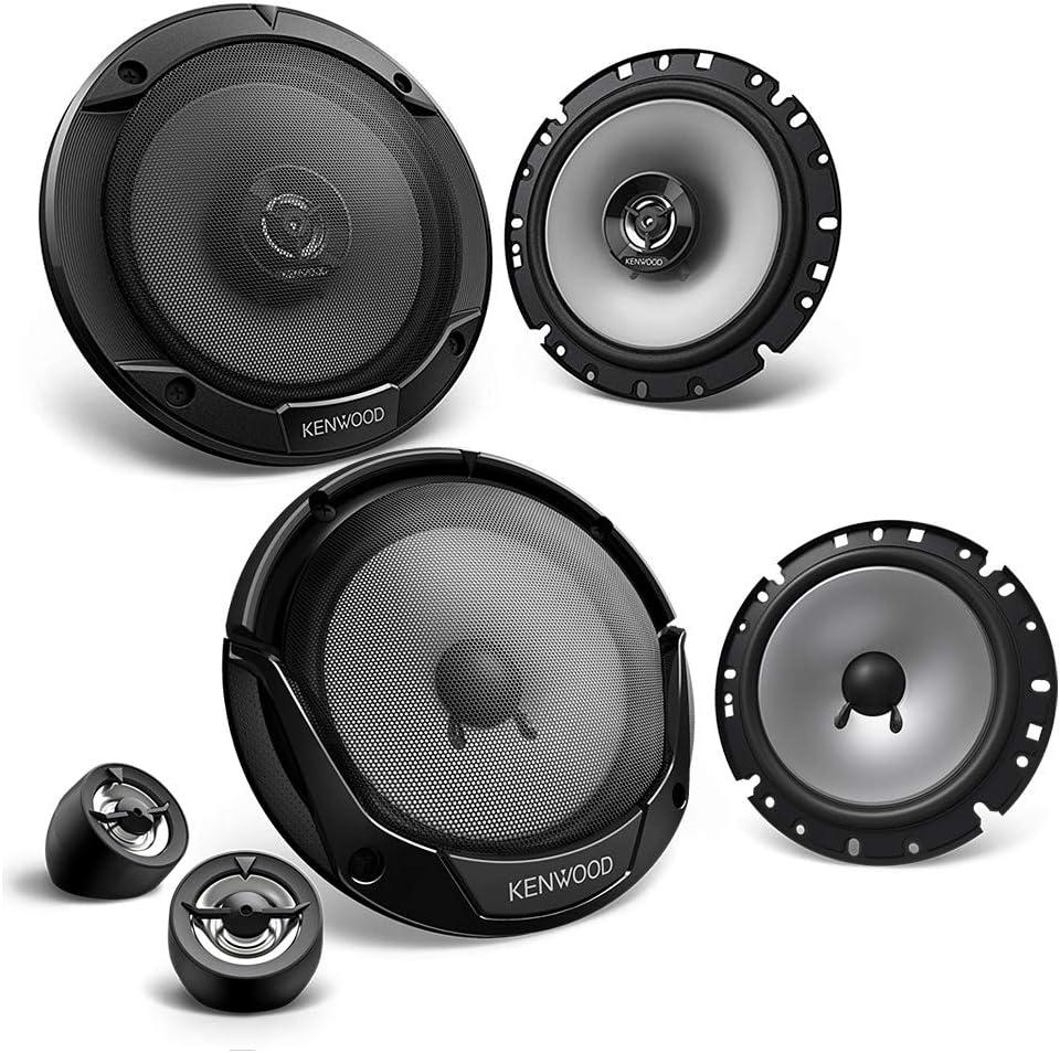 Kenwood Frontal//Trasera 16,5/cm//165/mm Auto Altavoz//Cajas//Speaker Set Completo para Toyota