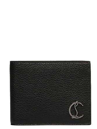 2a74e92f574 Christian Louboutin Men's 3195053B078 Black Leather Wallet at Amazon ...