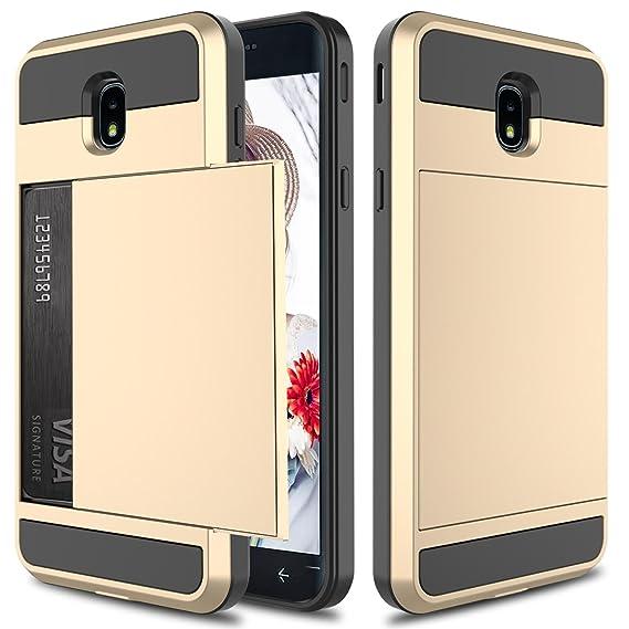 Galaxy J7 2018 Case, J7 Crown Case, J7 Refine, J7 Star Case,Elegant Choise Hybrid Dual Layer Shockproof Wallet Case with Credit Card Slots Holder ...