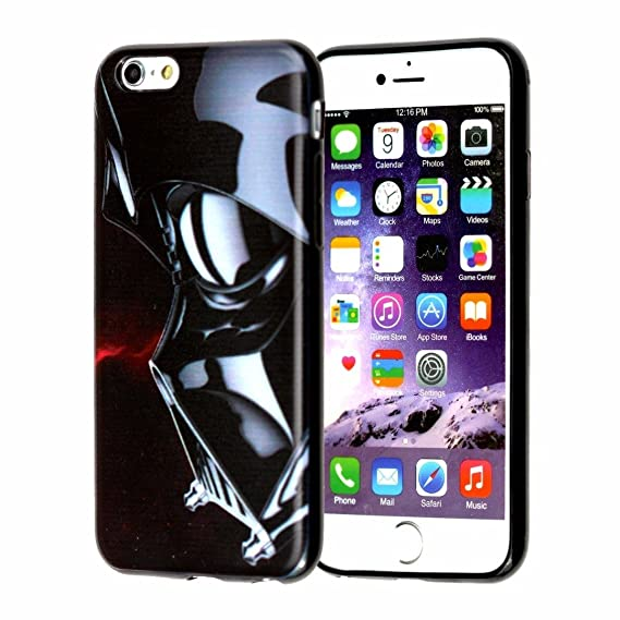 hot sale online 32cd6 11c9f iPhone 7 Case, DURARMOR FlexArmor iPhone 7 Star Wars Darth Vader Soft  Flexible TPU Bumper Case Ultra Thin ScratchSafe Shock Absorption Protective  Case ...