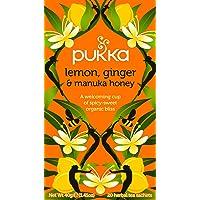 Pukka Lemon, Ginger, Manuka Honey Herbal Tea Bags, 20 Count, 2 Grams