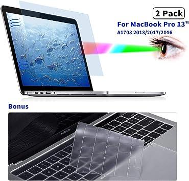 "MacBook Pro 13/""Screen Protector Anti-glare Anti-Blue Light Filter Tempered Glass"