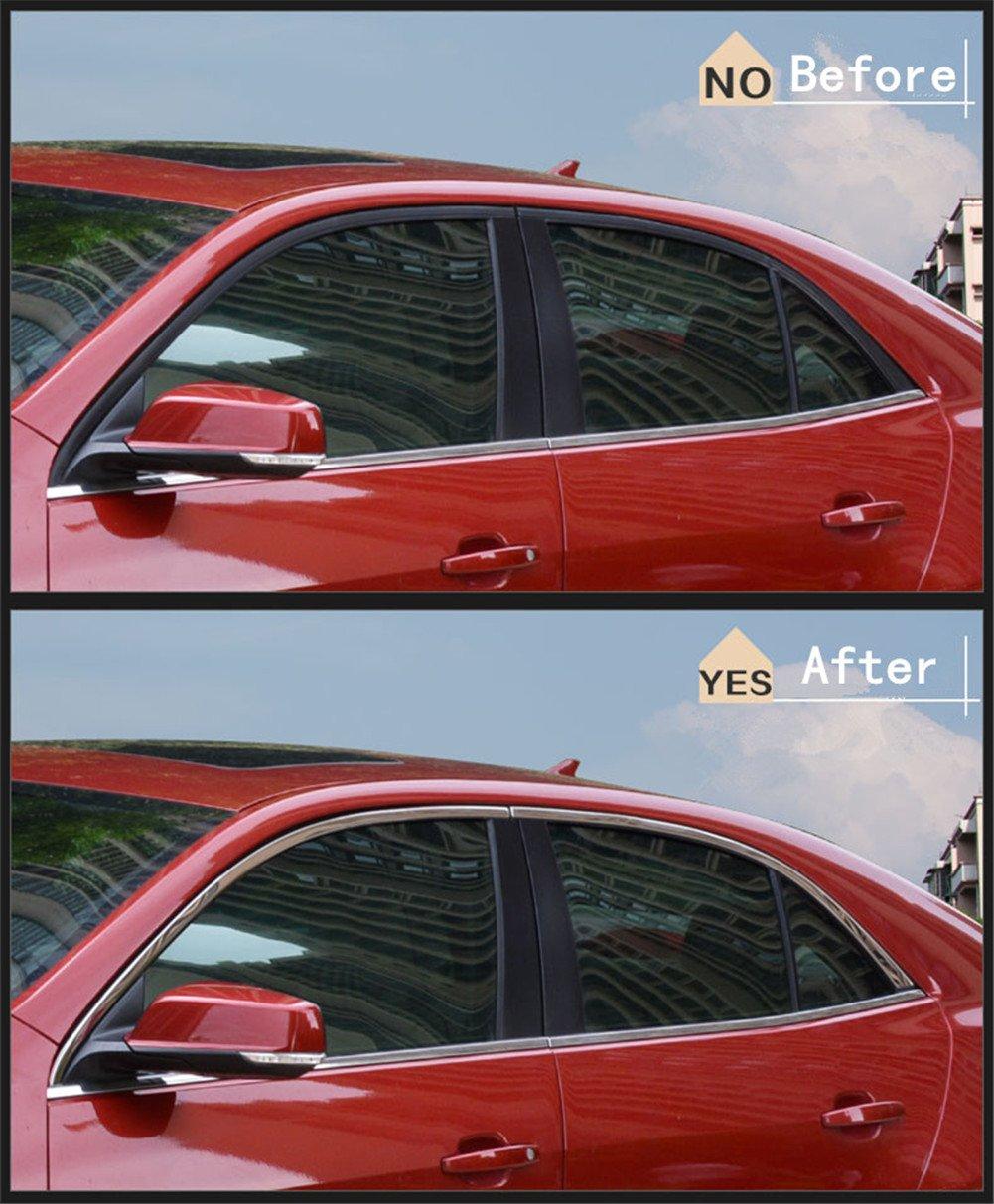 baodiparts 4Pcs Edelstahl-obere Fenster-Einfassung-Rahmen-Formteil ...