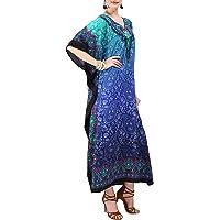 Miss Lavish London Women Kaftan Tunic Kimono Free Size Long Maxi Party Dress for Loungewear Holidays Nightwear Beach…