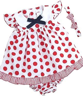 afe3cb42e BabyPrem Bebé Vestido Bragas Venda Del Bowknot Ropa Lunares Niñas 86-92cm  18-23 Meses Rojo  Amazon.es  Ropa y accesorios