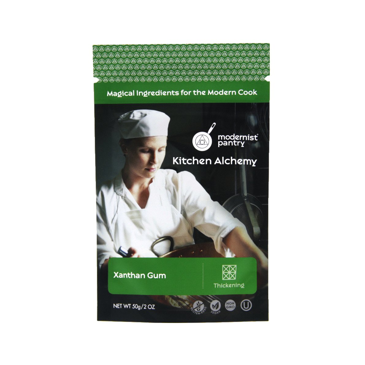 Pure Xanthan Gum ⊘ Non-GMO ❤ Gluten-Free ☮ Vegan ✡ OU Kosher Certified - 50g/2oz