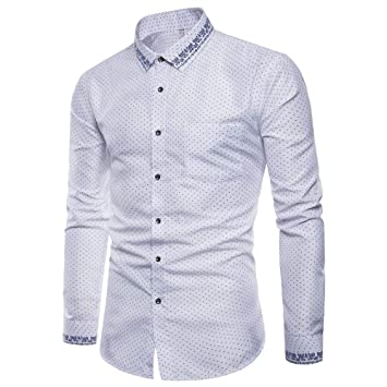 Men/'s Luxury Casual Classic Fit Shirt Long Sleeve Button Down Dress Shirt M-5XL