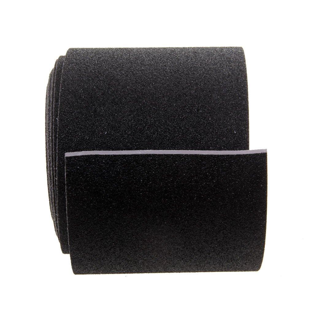 MagiDeal 5M Roll Black Self Adhesive Anti Slip No Skid Safety Grit Track Tape - 10cm