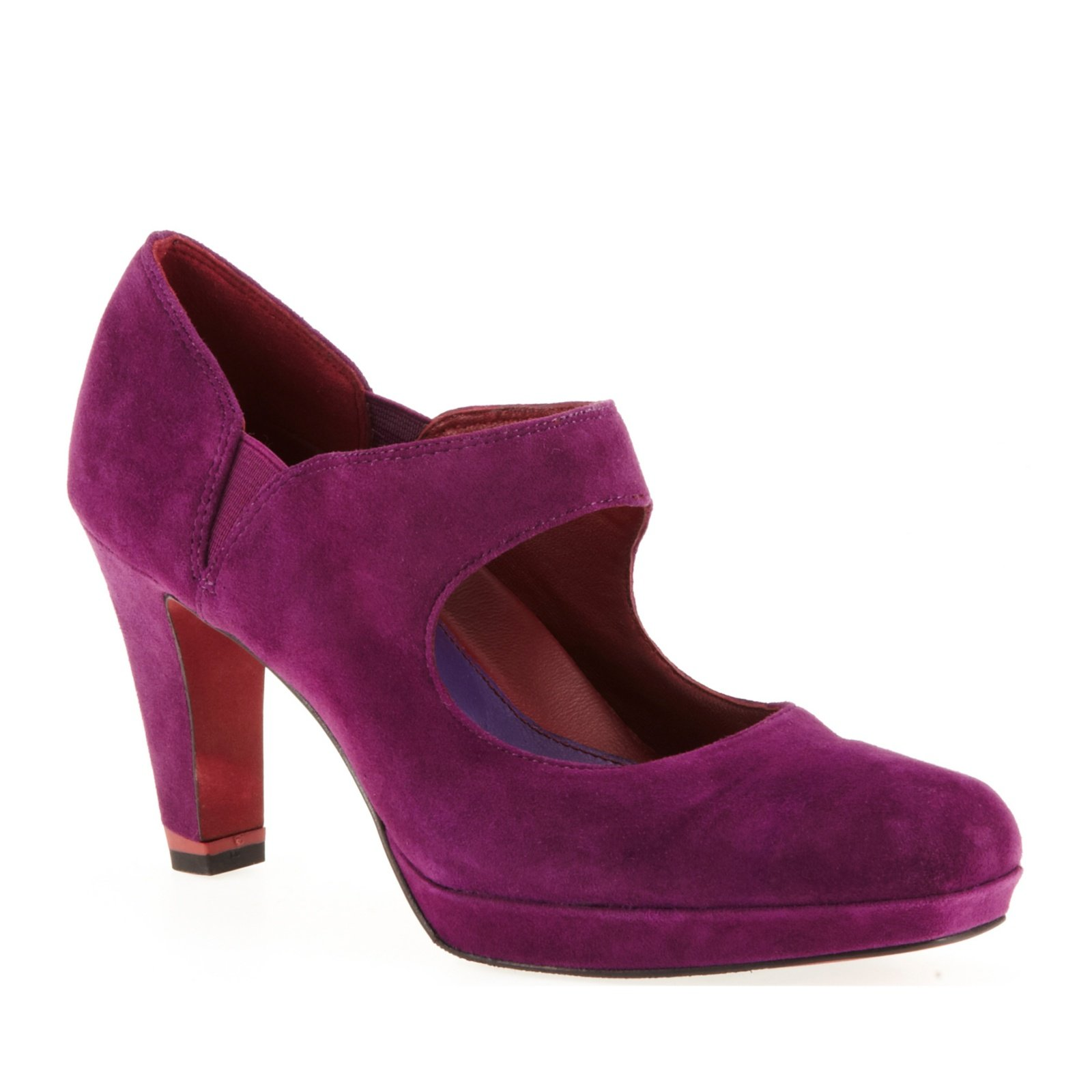Oh! Shoes Women's Tori Mary Jane Pump,Deep Purple Suede,36 EU / 5 B(M) US