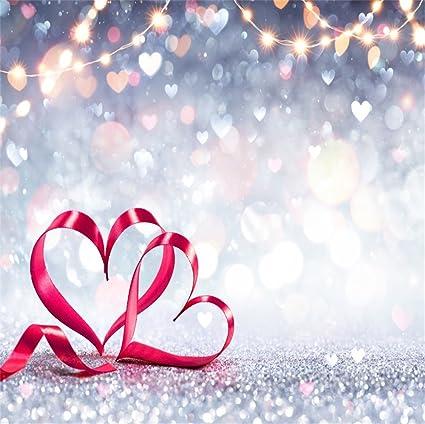 Amazon com : LFEEY 5x5ft Polyester Glitter Love Theme
