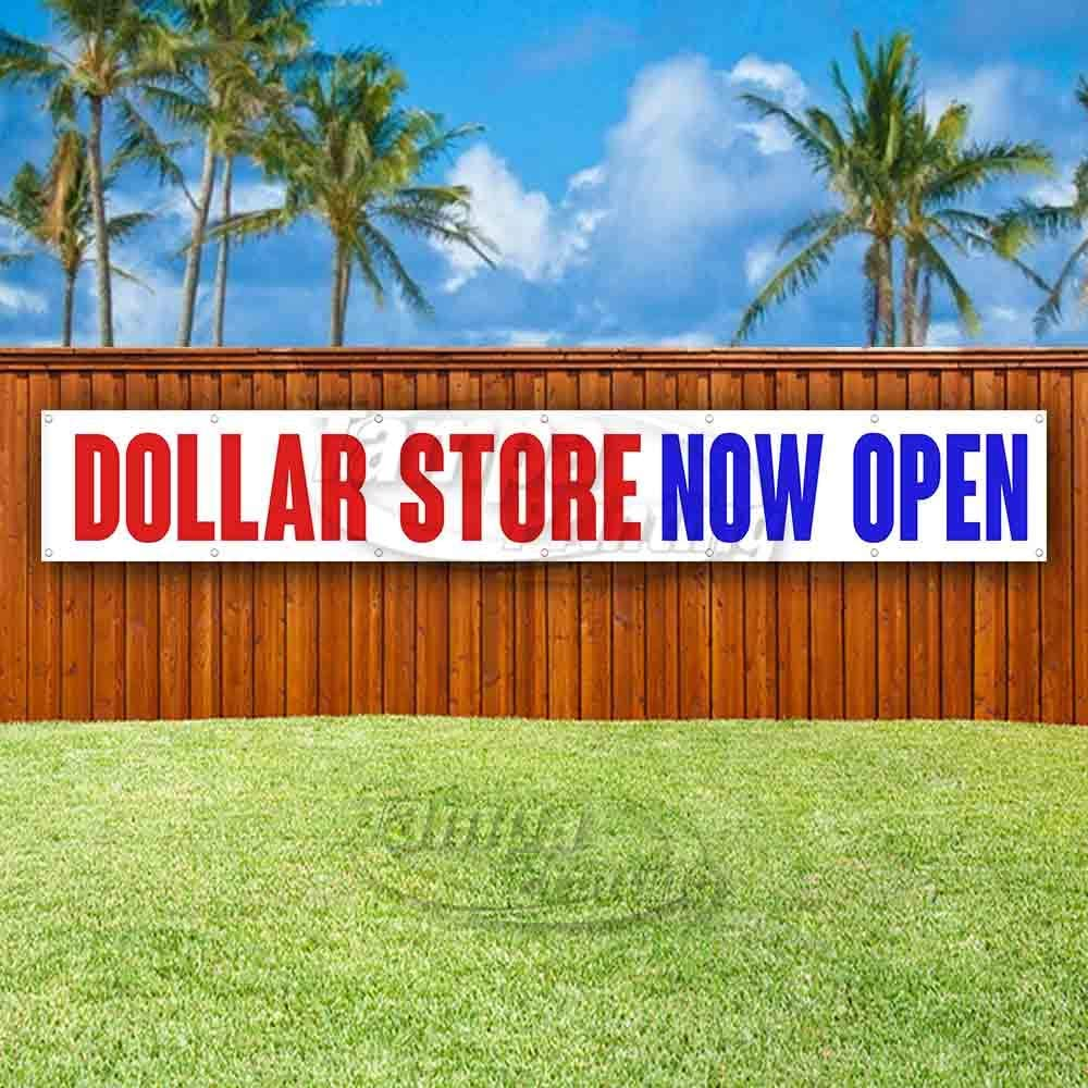 Flag, Advertising Many Sizes Available New Dollar Store Now Open Extra Large 13 oz Heavy Duty Vinyl Banner Sign with Metal Grommets Store