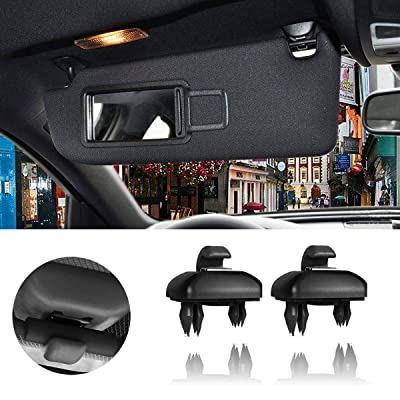 Porpor Booya 2-Pack Interior Sun Visor Hook Clip Bracket for A1 A3 A4 A5 Q3 Q5(8E0 857 562) (Black): Automotive