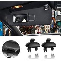 Porpor Booya 2-Pack Interior Sun Visor Hook Clip Bracket for Audi A1 A3 A4 A5 Q3 Q5(8E0 857 562) (Black)