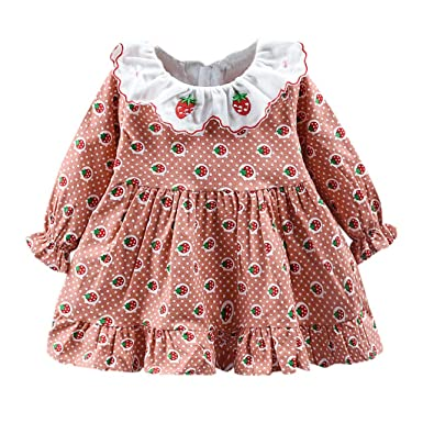 K-Youth Vestidos Niña Invierno Espesar Kawaii Estampado de ...