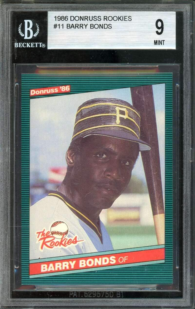 Barry Bonds Rookie Card 1986 Donruss Rookies #11 BGS 9 9 9.5 9 9