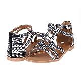 Amazon Price History for:DREAM PAIRS Women's Summer Trendy Print Gladiator Flat Sandals