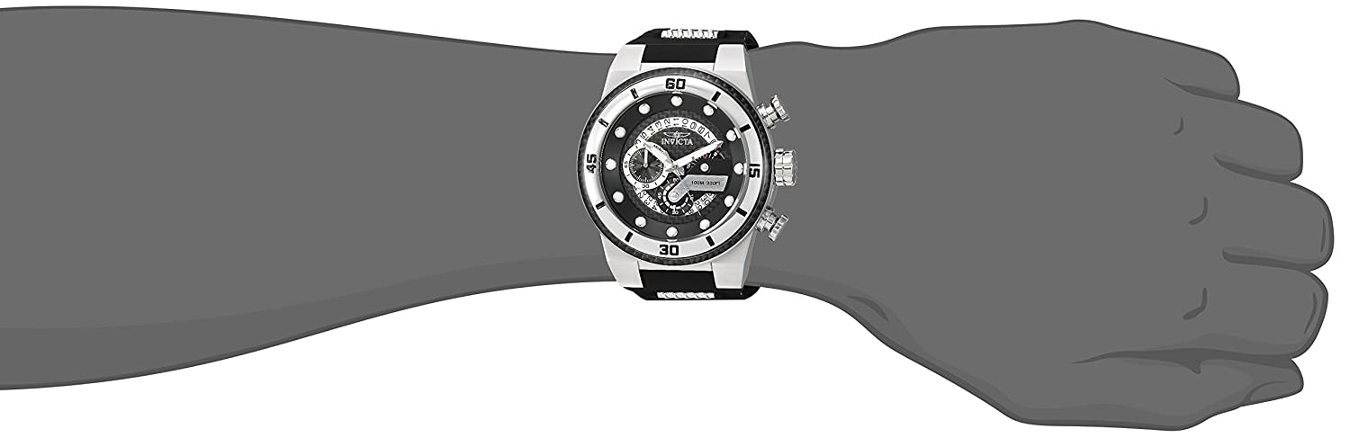 Invicta Men s S1 Rally Stainless Steel Quartz Watch with Silicone Strap, Black, 30 Model 24221