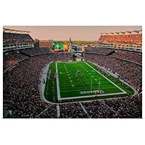 """Great Big Canvas Poster Print Entitled Elevated View of Gillette Stadium, New England Patriots by Panoramic Images 36""""x24"""""""