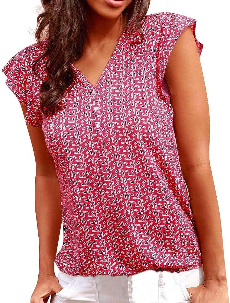 Lurcardo Camisetas Mujer, 2019 Camisas Mujer Blusas para Mujer Verano Sexy Deportes Chaleco con Estampado de Verano para Mujer Túnica Tops Shirt Blusa Ropa de Mujer Casual T-Shirt: Amazon.es: Ropa y accesorios