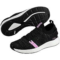 PUMA Women's NRGY Neko Engineer Knit WN's Athletic & Sports Shoes, Black-Iron Gate-Orchid