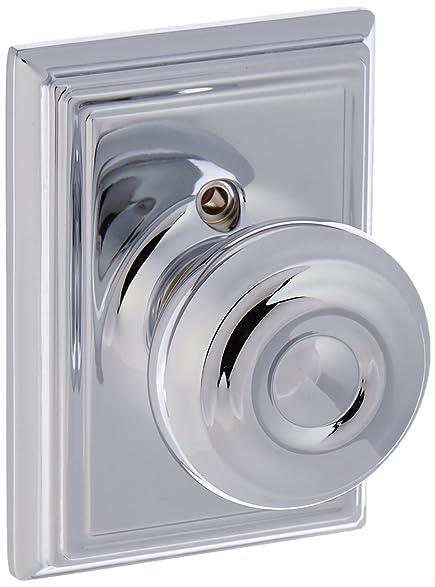 Schlage Lock Company F170GEO625ADD Polished Chrome Single Dummy Georgian  Door Knob With The Decorative Addison Rose