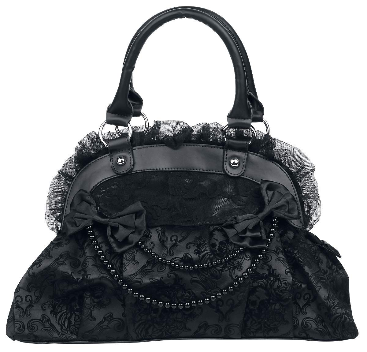Black bag with bows and frills Banned