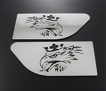2 x acero inoxidable ala Griffin accesorios para Scania R camiones decoraciones