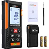 Tacklife HD60 Classic Laser Measure 196Ft M/In/Ft Mute Laser Distance Meter with 2 Bubble Levels, Backlit LCD and…