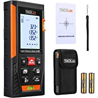 Tacklife HD60 Classic Laser Measure 196FT/ 60m Mute Laser Distance Meter with 2 Bubble Levels, Backlit LCD and…