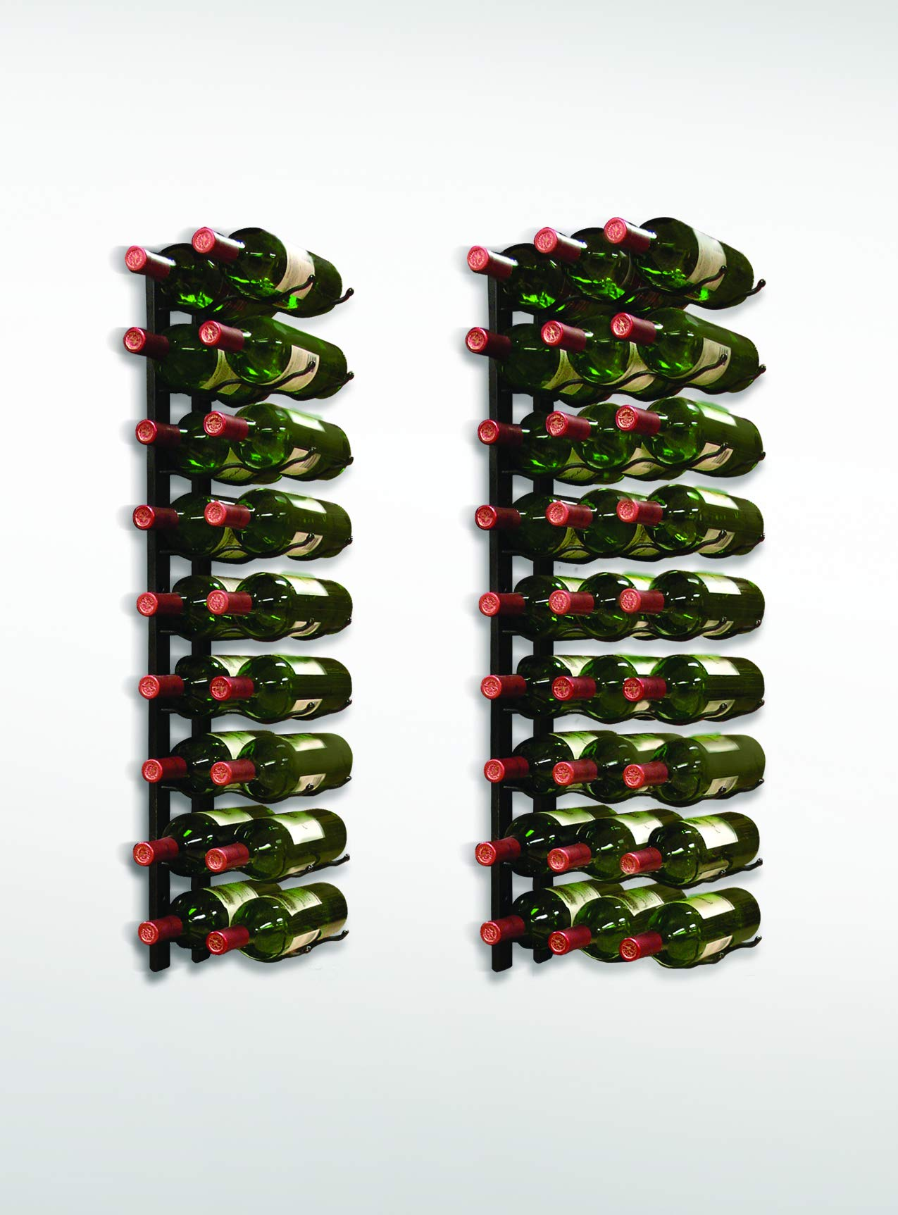 Vinotemp Metal Wall-Mount 27-Bottle Wine Rack, Black by Vinotemp (Image #1)