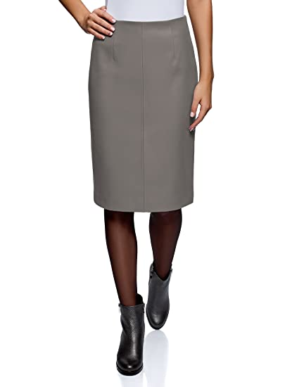 fac2a1c053 oodji Collection Women s Faux Leather Pencil Skirt at Amazon Women s ...
