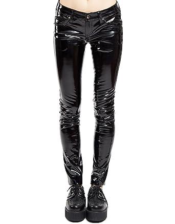 Wet look vinyl leggings
