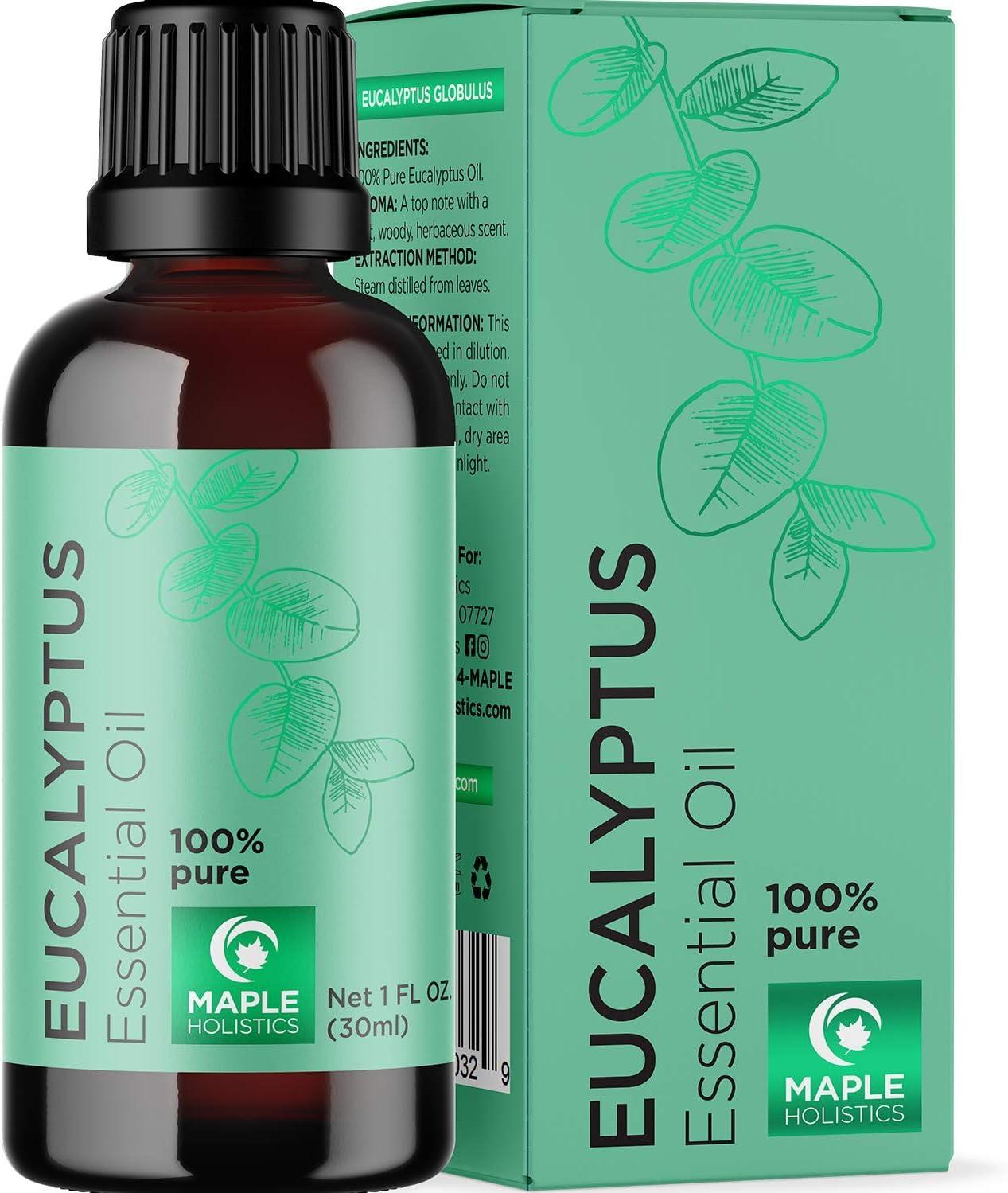 Maple Holitics Eucalyptus Essential Oil for Congestion
